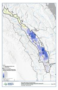 Napa Valley Subbasin Principal Aquifer Change in Groundwater Storage Spring 2017 to 2019