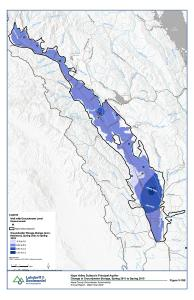 Napa Valley Subbasin Principal Aquifer Change in Groundwater Storage Spring 2011 to 2019